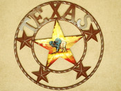 "Rustic Metal Texas Star 16"" - Buffalo"