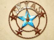 "Rustic Metal Texas Star 16"" - Eagle"