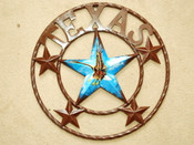 "Rustic Metal Texas Star 16"" - Eagle"