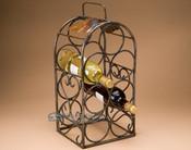Metal Art Wine Rack - Holds 7 Bottles