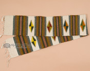 Zapotec Indian wool woven table runner. One of a kind!