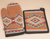 Oven Mitt & Pot Holder Kitchen Set -Luna