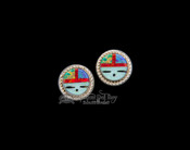 Opal Stone Stud Earrings - Hopi Face