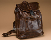 Distressed Brown Leather Back Pack
