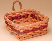 Handmade Amish Napkin Basket - Red