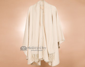 100% Brushed Alpaca Cape with Scarf -Cream