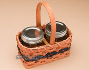 Handmade Amish Basket - Jelly Jars
