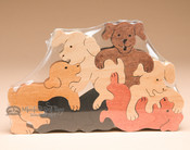 Handcrafted Amish Jig Saw Puzzle -Dogs