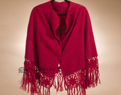 100% Alpaca Bell Cape - Red