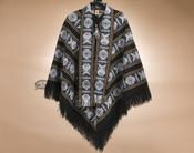 Southwest Woven Poncho - Black