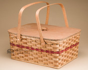 Amish Picnic Basket - Red