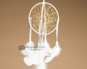3D Native American Dreamcatcher - White