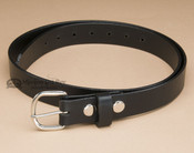 Handcrafted Amish Leather Belt -Black with Nickel