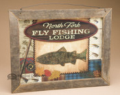 Rustic Style Wooden Sign - North Fork Fly Fishing Lodge