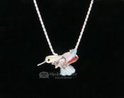 "Navajo Pin/Pendant Hummingbird Silver Necklace 20"""