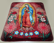 Luxury Plush Southwest Design Blanket - Virgin of Guadalupe