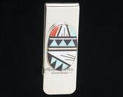Southwestern Zuni Money Clip - Inlaid Stones