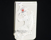 Navajo Indian Nickel & Silver Money Clip - Warrior