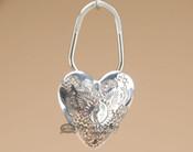 "Western Sterling Silver Navajo Key Fob 2.5"" - Heart"