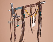 "Mini Navajo Indian Tomahawk Pipe 7.5"" - Blue"