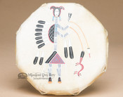 Small Navajo Native American Drum - Front View
