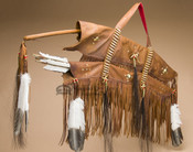 Old Style Native American Saddle Bow Case & Quiver Set