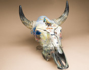 Western Painted Steer Skull