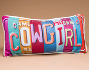 Western Decorative Throw Pillow - Cowgirl