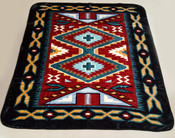 Luxury Plush Southwest Design Blanket -Navajo Red