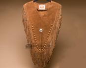 Beaded Leather Chaleco Dance Shirt