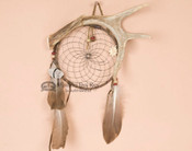 Black Web Antler Dreamcatcher with Crystal