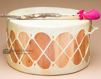 Tarahumara Cedar Drum - Light Cowhide