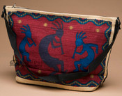 Southwestern Style Cotton Purse -Kokopelli Red