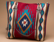 Southwestern Wool Tapestry Purse -Red