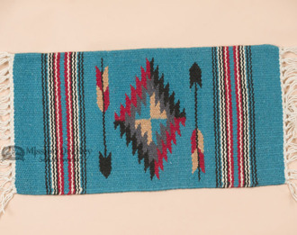 Chimayo Turquoise Wool Placemat
