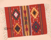 Wool Southwestern Placemat -Rust