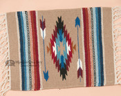 Southwest Wool Handwoven Chimayo Place Mat 15x20 -Tan