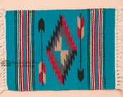Chimayo Turquoise Wool Placemat 15x20