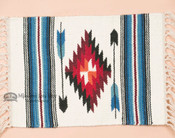 Handwoven Chimayo Place Mat 15x20 -White Arrow