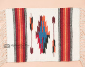 Handwoven Chimayo Place Mat 15x20 -Orange Arrow