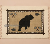 Southwestern Cotton Placemat 13x19 -Bear (himat71)