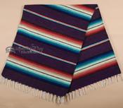 "Rio Bravo Mexican Style Blanket 56"" x 74"" -Purple"