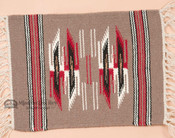 Handwoven Chimayo Place Mat 15x20 -Brown