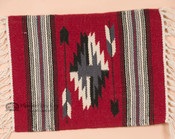 Handwoven Chimayo Wool Place Mat 15x20 -Red