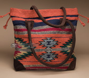 Southwestern Rug Tote Bag 17x17 (mont-a)