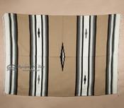 Woven Diamond Center Style Blanket 5x7 -Tan