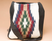 Southwestern Wool Tote -White