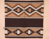 Handwoven Wool Saddle Blanket -Tan & Brown