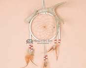 "Antler Dreamcatcher Wall Art - 6"" white"