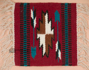 Handwoven Wool Placemat -Chimayo Red